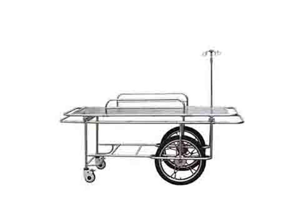 全不锈钢两大两小轮担架车